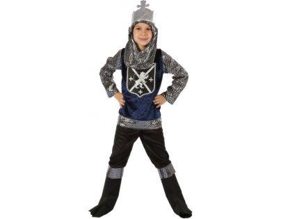 Made Dětský kostým Rytíř stříbrný 120-130 cm