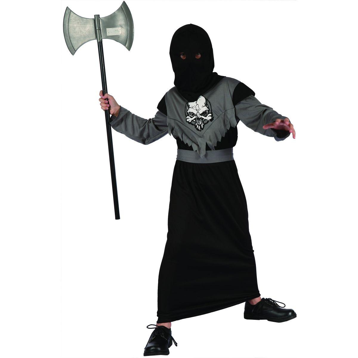MaDe Dětský kostým Temný bojovník vel. M