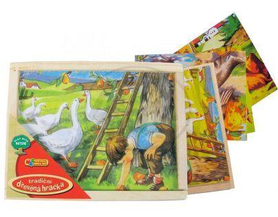 Made Obrázkové kostky dřevěné 12 ks