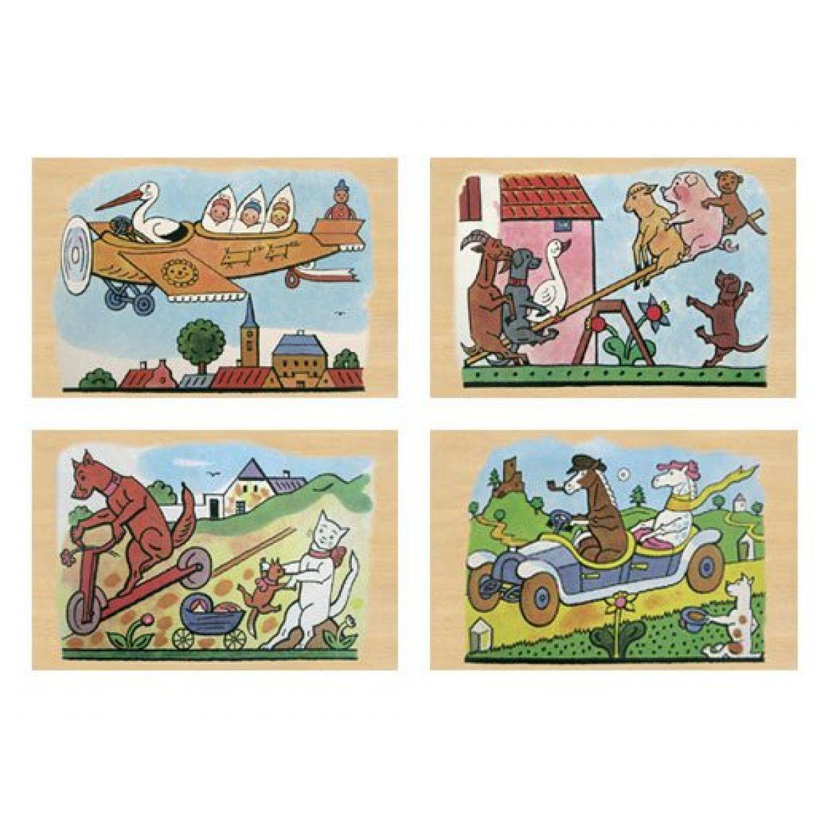 MaDe 57845 - Puzzle 4 obrázky Josef Lada