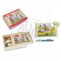 MaDe 57845 - Puzzle 4 obrázky Josef Lada 2