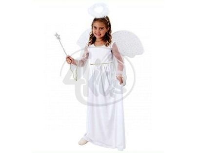 MaDe 55475 - Šaty na karneval - anděl vel.S