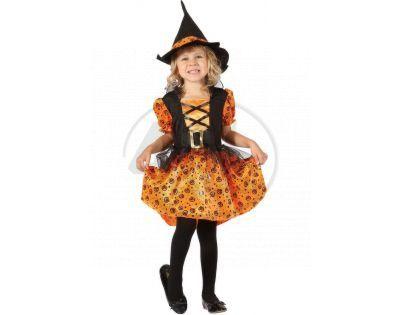 Made Dětský kostým Čarodějka oranžová 92-104cm