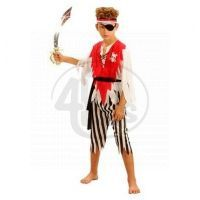 Made Dětský kostým Pirát s páskou 120-130 cm