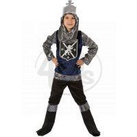 Made Dětský kostým Rytíř stříbrný 110-120cm