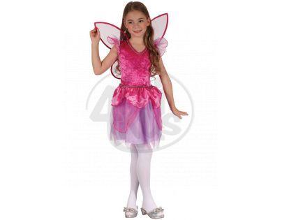 Made Dětský kostým Víla růžová 120-130cm