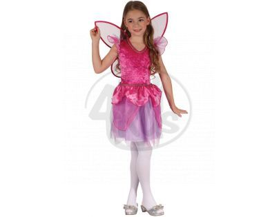 Made Dětský kostým Víla růžová 130-140cm
