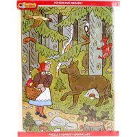 MaDe Josef Lada Puzzle 24d Červená Karkulka