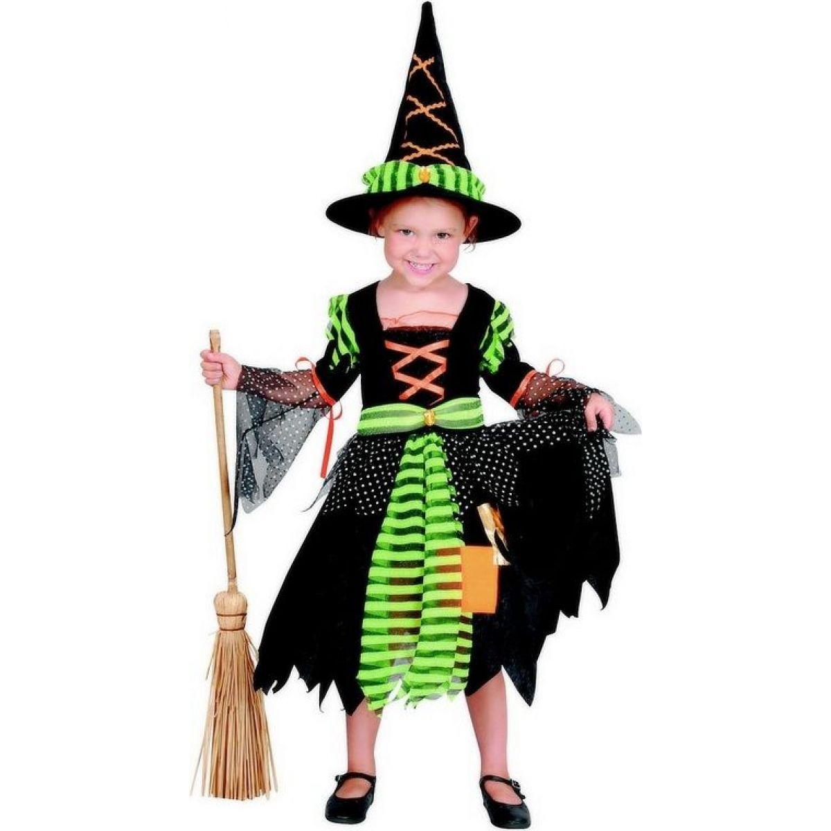 Made Karnevalový kostým Čarodějka 92-104 cm