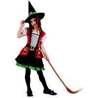 Karnevalový kostým čarodějka pro děti 120-130 cm
