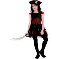 Made Karnevalový kostým pirátka pro děti 120-130 cm