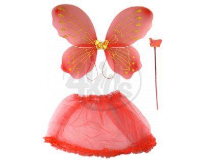 Made Křídla se sukýnkou motýlek - Červená