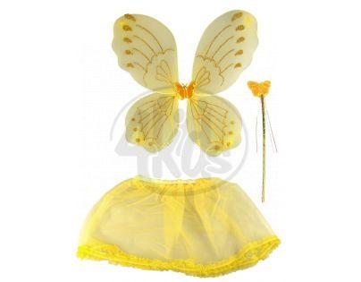 Made Křídla se sukýnkou motýlek - Žlutá