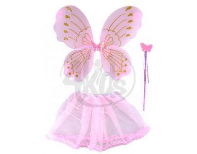 Made Křídla se sukýnkou motýlek - Růžová