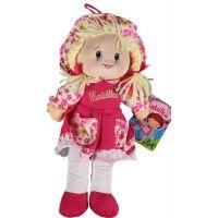 MaDe Panenka hadrová 30 cm Růžové šaty