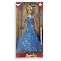 MaDe Panenka Lucy ve večerních šatech modré šaty