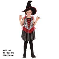 MaDe Šaty na karneval Malá čarodějnice 120-130 cm