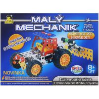 MaDe Stavebnice Malý mechanik Traktor s nástrojem 117 dílků