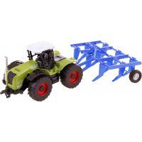 Made Traktor s nástroji na zpětný chod Brána modrá