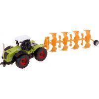 Made Traktor s nástroji na zpětný chod pluh oranžový