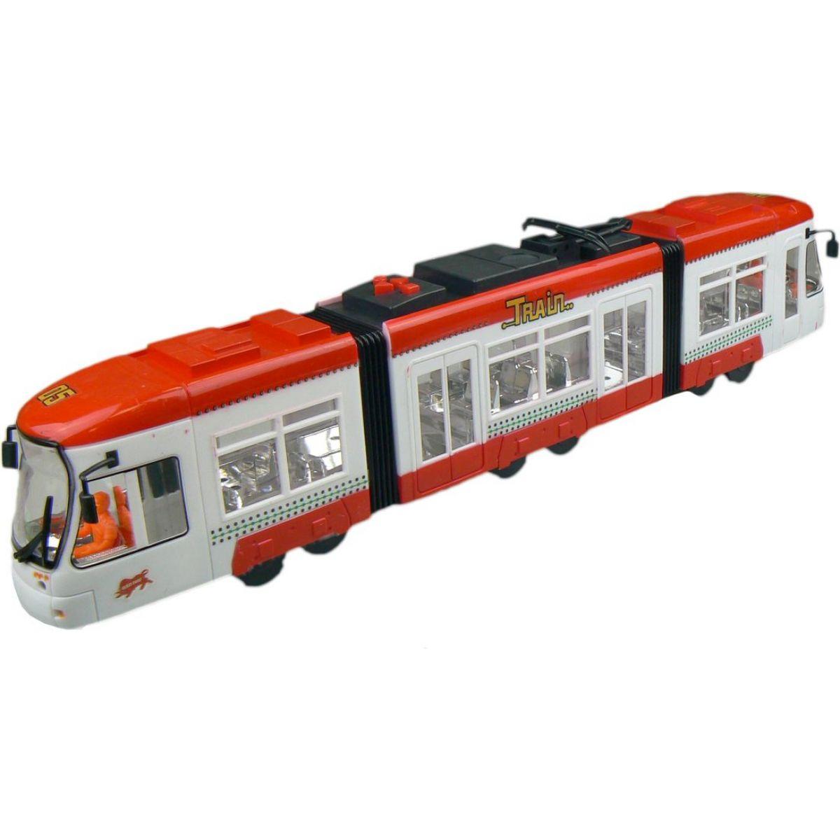 Made Tramvaj na baterie se světlem a zvukem - Červená