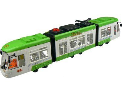 Made Tramvaj na baterie se světlem a zvukem - Zelená