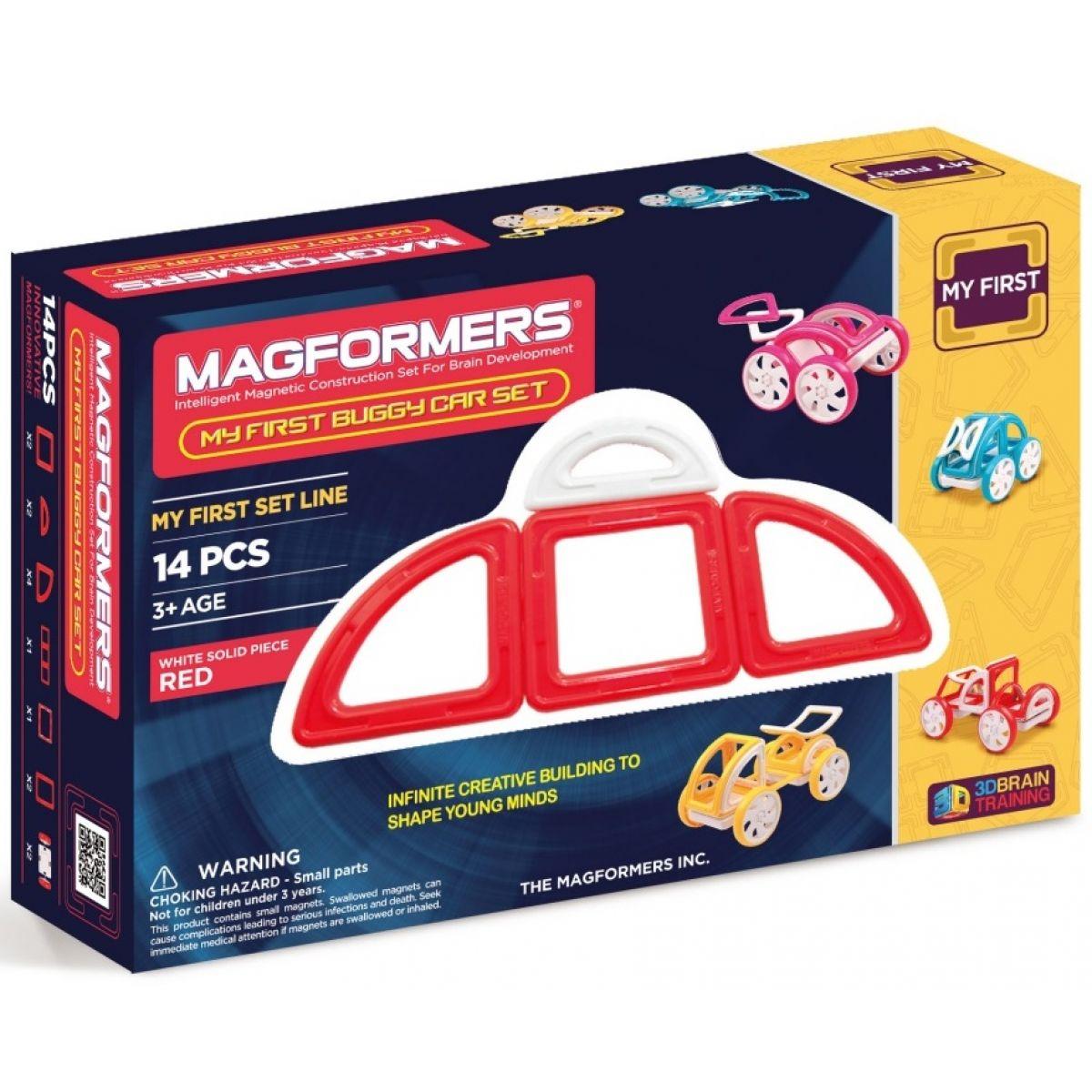 Magformers My first Buggy car červená 14ks