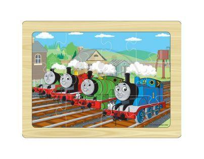 Tomáš a jeho přátelé 7216 - Puzzle dřevěné 12 ks na desce