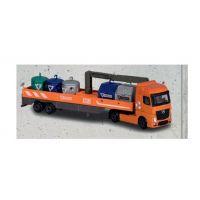 Majorette Nákladní auto kovové Mercedes-Benz M-Recycle Oranžové