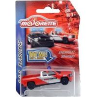 Majorette SOS vozidla kovová, světlo a zvuk Hasiči červený Pick Up