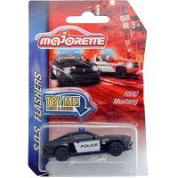 Majorette SOS vozidla kovová, světlo a zvuk Policie černé vozidlo