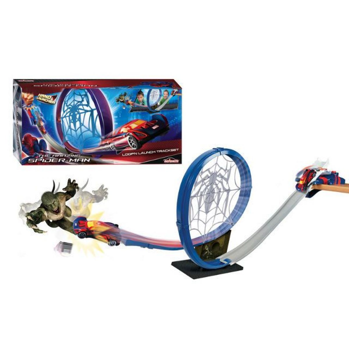 Majorette MJ 3089716 - Spiderman Loop n Launch dráha +1auto