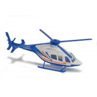 Majorette Vrtulník kovový 13 cm BELL 429 Modrobílá Záchranka