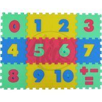 Malý Génius Pěnový koberec 8 mm čísla 12 dílků