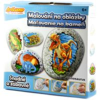 Creatoys Malování na kameny Dinosaurus kreativní sada