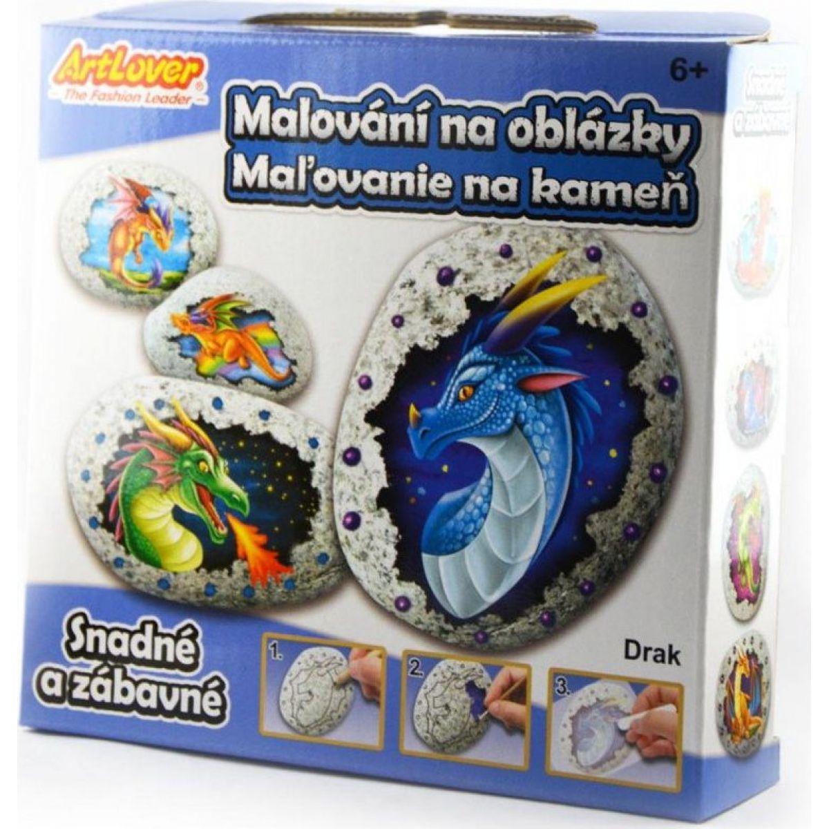 Malování na oblázky drak kreativní sada