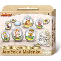 Creatoys Malování na oblázky s příběhem Jeníček a Mařenka  kreativní sada  v krabičce