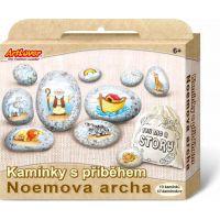 Creatoys Malování na oblázky s příběhem Noemova archa kreativní sada v krabičce