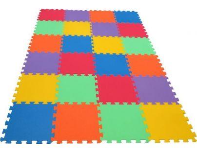 Malý Genius Pěnový koberec 16 mm MAXI 24 dílků 6 barev