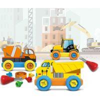 Malý mechanik plastový Junior stavební auta 2