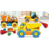 Malý mechanik plastový Junior stavební auta 3
