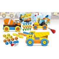 Malý mechanik plastový Junior stavební auta 4