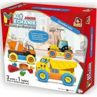 Malý mechanik plastový Junior stavební auta 5