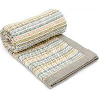 Mamas & Papas Pletená deka krémová Pastelové proužky