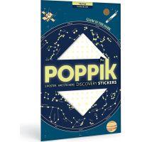 Poppik Samolepkový plakát Mapa hvězd svítící ve tmě