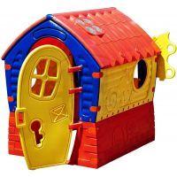 Domeček Dream House - červeno-žlutý