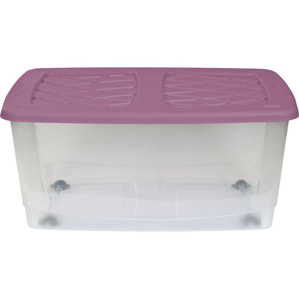 Marian plast dětský kontejner na hračky růžové víko