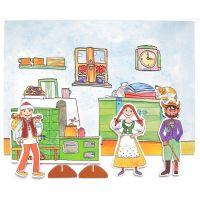 Marionetino Čert, Honza a Káča Scéna s figurkami