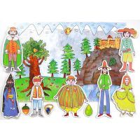 Marionetino Dlouhý, Široký a Bystrozraký Scéna s figurkami