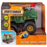 Matchbox MBX Auta na setrvačník ASS - Vojenské s raketou zelené 2